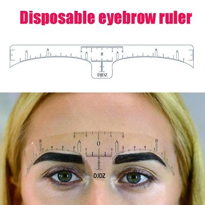 DJDZ 50pcs Disposable Soft Accurate Eyebrow Ruler Sticker Microblading Makeup