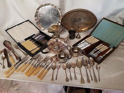 a job lot of silver plated items.5 kgs in weight.
