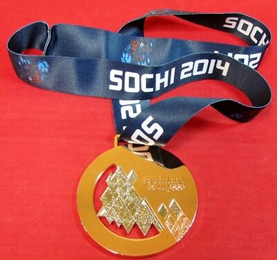 Gold Medal - 2014 Sochi Winter Olympics - With Silk Ribbon & Storage Pouch