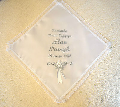 personalised baby christening/baptism robe. szatka do chrztu