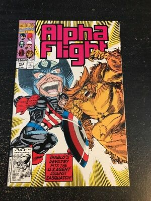 Alpha Flight#103 Incredible Condition 9.2(1991) U.S.Agent Vs Sasquatch!!