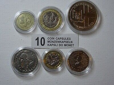 COIN CAPSULES -SIZE from16.5mm to 42mm Capsule -10,20,30,50,100
