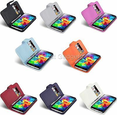 For Samsung Galaxy S5 Premium PU Leather Wallet Case Cover With 2 Card Slots