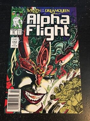 "Alpha Flight#67 Incredible Condition 9.4(1989)""Wrath Of The Dream queen"""