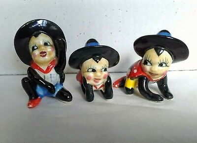 Lot of 3 Vintage Marked Japan Ceramic Insect  Lady Bug Figurines