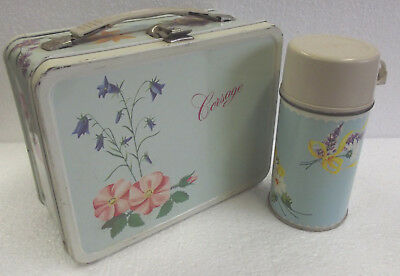 Vintage Corsage Lunch Box with Thermos by King Seeley Co 1964
