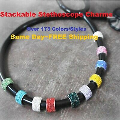 CharMed Crystal Nurse Stethoscope Stackable Bling Charms FREE SHIPPING!