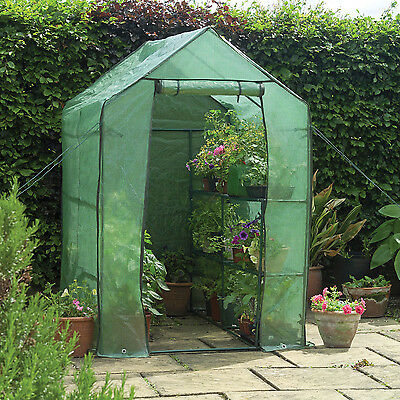 4 Ft. W x 6.5 Ft. D Greenhouse 2-Tier Shelving Unit