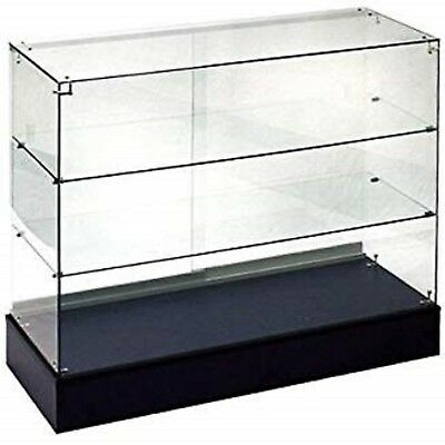 New! Retail Glass Display Case Full Vision Black 4' Showcase