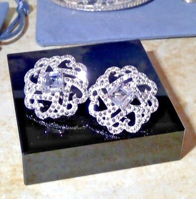 Taylor Avedon VINTAGE  sterling silver byzantine button  Earrings $320 sterling