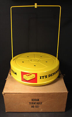 Very Rare Vintage Kodak A6-551 Display Turntable New Old Stock in Orig. Box