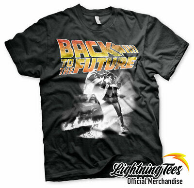 Official Back To The Future Movie Poster Delorean T-Shirt