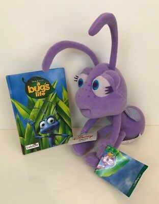 Disney Store Bugs Life Dot Plush Soft Toy With Tags & Book Bundle