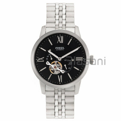 Fossil Original ME3107 Men's Townsman Automatic Silver Stainless Steel Watch44mm