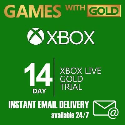 Xbox Live Gold 14 day 2 weeks Trial code Digital Delivery Instant Dispatch