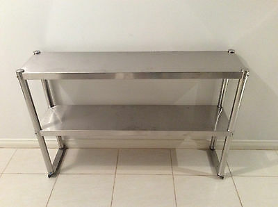 Brand New Stainless Steel Kitchen Work Bench Overshelf 1200x300x780 mm