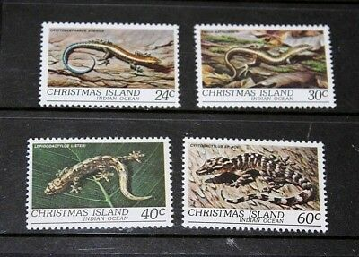 Christmas Island 1981 Reptiles Set Of 4 Very Fine M/n/h
