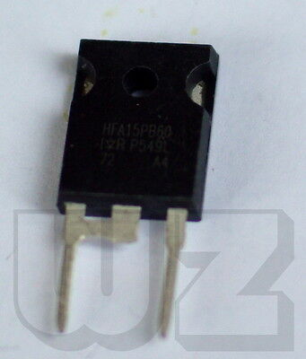 1 x HFA15PB60 Ultrafast Soft Recovery Diode 600V  15A  19ns dI/dt typ =160A/us