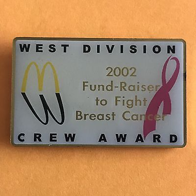 McDonald's Pin - West Division 2002 Fundraiser To Fight Breast Cancer Crew Award