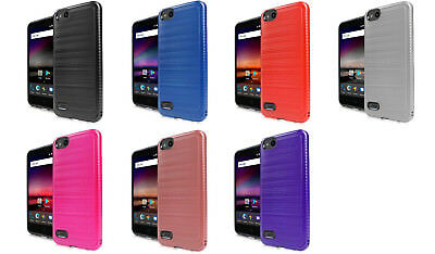 Lining Brush Hybrid Case Cover for ZTE ZFive G C Z557BL Z558VL