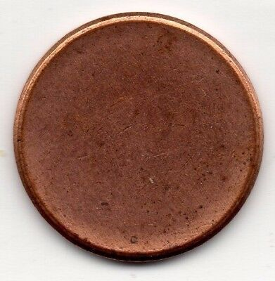2 × Lincoln Cent Blank Penny Planchet Mint Error Coin ~ 2 Coin Set