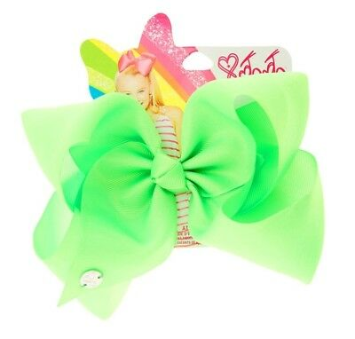 JoJo Siwa Authentic Large Hair Clip Bow Neon Lime Green NEW