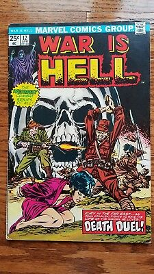 War Is Hell #12 Early DEATH appearance Marvel 1975