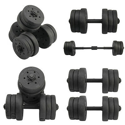 20kg Dumbbells Set Biceps Training Lifting Fitness/ Workout/ Weight Weights Gym