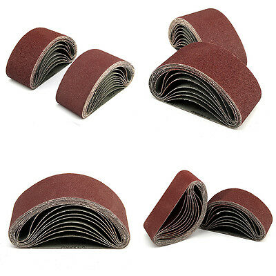 20 X Mixed Grade Sanding Belts 40 60 80 120 Grit 75mm X 457mm Power Tool  Sander