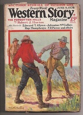 Western Story Magazine Pulp June 9 1928 Ray Humphreys Norman Burke Max Brand