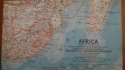 Vintage National Geographic 1960 Map of Africa-Atlas Plate 54