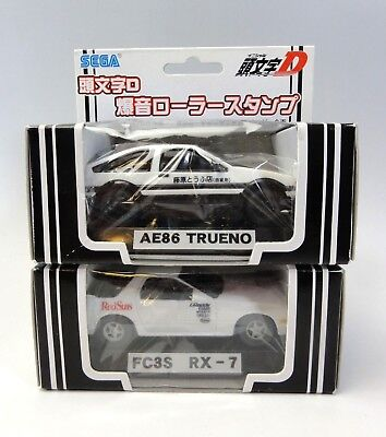 INITUAL D The Roller Stamp Car Figure AE86 & RX-7 Set SEGA JAPAN