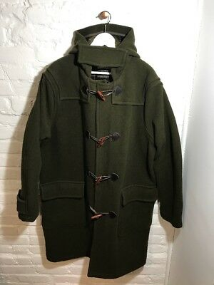 Barbour Wool Cashmere Duffle Toggle Coat Jacket Parka T74 Men'S L Large Rare