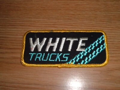Vintage White Trucks Embroidered Patch
