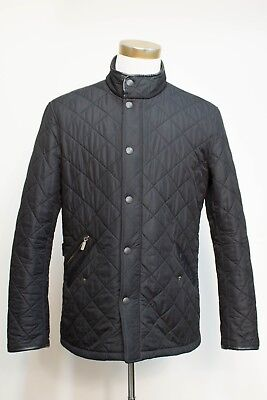 Barbour Powell Black Quilted Field Jacket Size Medium