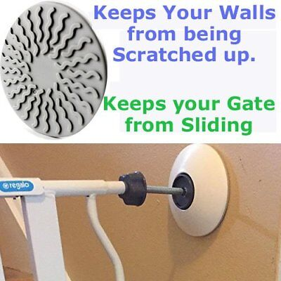 Pair of Baby Gates Pads Safety Indoor Gate Wall Protector Dog Pet Child Walk