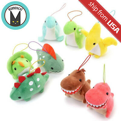 Japan AMUSE Dinosaur Kingdom Mascot Plush Charm Strap Kawaii Cute Doll Keychain