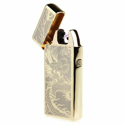 Dual Arc Gold Dragon Electric Lighter