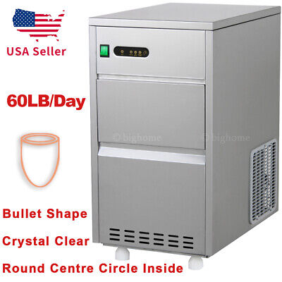 Auto Nugget Bullet Ice Maker 60 Lbs /day Commercial Bar Home Countertop Machine