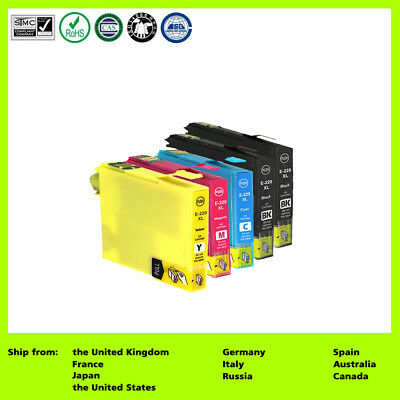 5X Ink Cartridge 220XL for Epson WorkForce WF-2750 NON-OEM