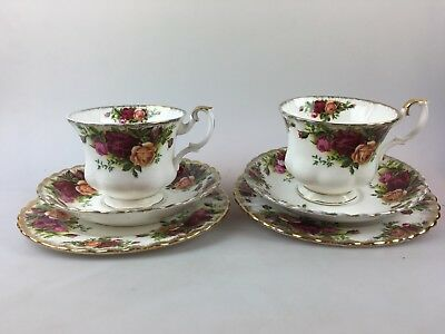 Royal Albert - Old Country Roses - 2 X Trios - Cup Saucer Plate - England