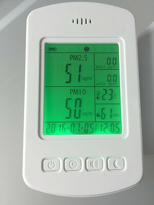 Air Quality Monitor Dock2 - Pm2.5, Pm10, H2CO, TVOC, Temp, Humidity...