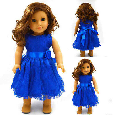 Fashion 18 inch American Girl Party Dolls Handmade Clothes Dress Accessories