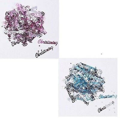 Boy//Girl Blue//Pink 14g Pack 3 x Bags Christening Foil Table Confetti