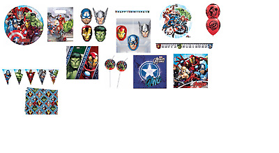 Marvel Avengers Superhero Banners & Party Bags Children's Party Decorations