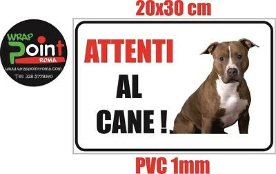 Cartello attenti al cane TARGA PITBULL CANE in PVC 1mm 20x30 cm