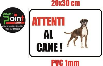 Cartello attenti al cane TARGA BOXER CANE in pvc 1MM 20x30 cm