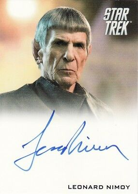 Star Trek Movies 2014 Leonard Nimoy as Spock Auto Card Into Darkness