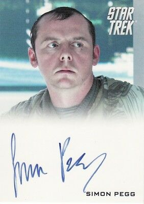 Star Trek Movie XI 2009 Simon Pegg as Scotty Auto Card
