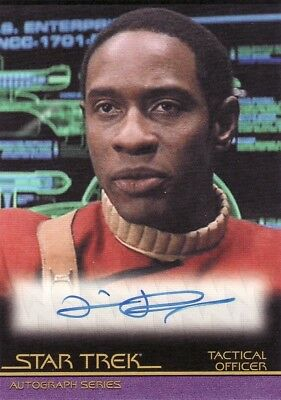 Star Trek Movies in Motion Tim Russ as Tactical Officer A73 Auto Card